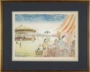 Sale 8771 - Lot 2030 - Shinichi Koyama (1947 - ) - The Tubby Isaacs Stall 29 x 42cm