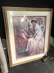Sale 8797 - Lot 2067 - Fernand Toussaint, Decorative Print, frame size: 105 x 89cm