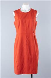 Sale 8800F - Lot 73 - A Hugo Boss virgin wool blend orange shift dress, approx size 10-12