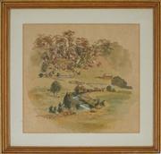 Sale 8870A - Lot 512 - Samuel Elyard (1817 - 1910) - Broughton Creek, Berry 27 x 29 cm
