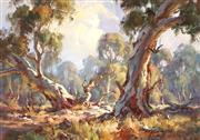 Sale 9021 - Lot 507 - Andris Jansons (1939 - ) - Sunlit Bushland, 1979 24 x 34 cm (frame: 39 x 49 x 3 cm)