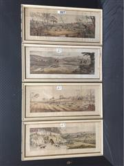 Sale 9087 - Lot 2042 - Set of Four Stag Prints, frame: 36 x 79 cm