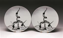 Sale 9122 - Lot 23 - Pair Of Jeff Koons Designed Plates Marked Bernardaud France (Dia 26cm)