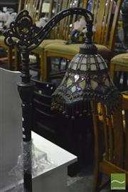 Sale 8368 - Lot 1073 - Leadlight Hanging Shade Standard Lamp