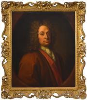 Sale 8382 - Lot 567 - René Auguste Constantyn (active 1712 - 1726) - Antoine Clerembault, 1717 74 x 61.5cm