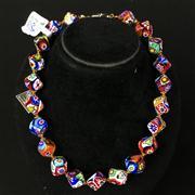Sale 8402D - Lot 32 - Murano Glass Millefiori Necklace (Length - 41cm)