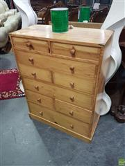 Sale 8601 - Lot 1411 - Small Pine Chest of Drawers (H: 83 x W: 62 x D: 29cm)