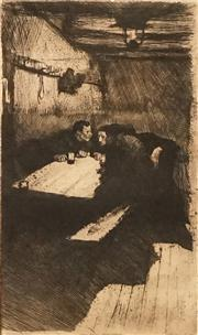 Sale 8624 - Lot 579 - Käthe Kollwitz (1867 - 1945) - Beratung (Conspiracy), 1895 28.5 x 16.5cm
