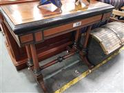 Sale 8700 - Lot 1083 - Walnut Inlayed Fold Over Card Table