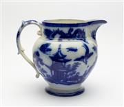 Sale 8775 - Lot 28 - A fine blue and white transfer decorated milk jug French 19th century, label Bordeaux R Johnston