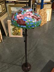 Sale 8795 - Lot 1050 - Leadlight Shade Floor Lamp
