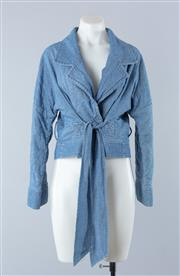 Sale 8800F - Lot 15 - A Sass & Bide denim look quilted box jacket, approx size, 8-10