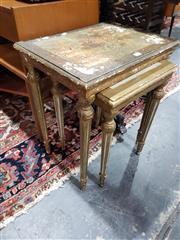 Sale 8826 - Lot 1085 - Nest of 2 Gilt Side Tables