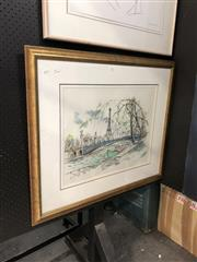 Sale 8836 - Lot 2007 - Artist Unknown - Paris Scene, pen & wash, SLR