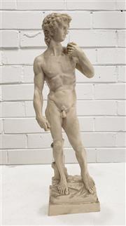 Sale 9080 - Lot 1005 - Composite statue of David (h:48cm)