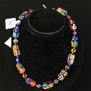 Sale 8402D - Lot 33 - Murano Glass Millefiori Necklace (Length - 41.5cm)