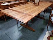 Sale 8607 - Lot 1015 - Australian Blackwood Extension Dining Table (H: 74 L: 226 Extended W: 90cm) -