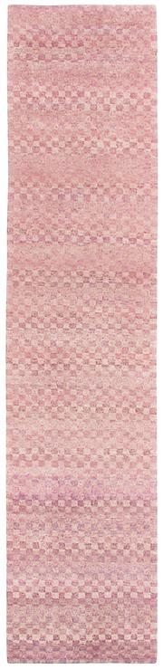 Sale 8626A - Lot 112 - A Cadrys Nepalese Jan Kath Checkerboard Tibetan Highland Wool & Chinese Silk Carpet, Size; 398X90cm, RRP; $3375