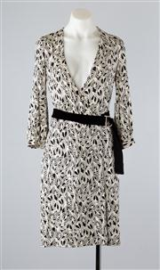 Sale 8685F - Lot 81 - A Diane von Furstenberg printed silk wrap dress, size US 6