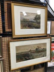 Sale 8726 - Lot 2084 - Pair of Country Scene Watercolours by A Sinclair, framed various sizes