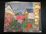 Sale 8789 - Lot 2071 - Toshiharu Matsubara - Urban Scene 38 x 32cm