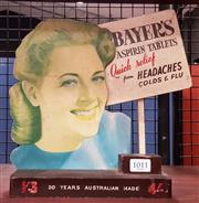 Sale 8930 - Lot 1011 - Vintage Aspirin Shop Advert