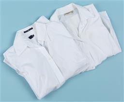 Sale 9092F - Lot 94 - TWO WOMENS WHITE DRESS SHIRTS; including Gap & Country Road Size M & 12