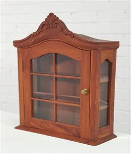 Sale 9154 - Lot 1070 - Timber wall mount display cabinet (h53 x w50 x d15cm)
