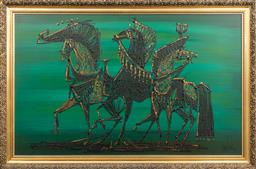 Sale 9256H - Lot 1 - Van Gaard American C20th - Don Quixote signed lower right, ex Lane Crawford Hong Kong, 1968