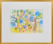 Sale 8374 - Lot 545 - John Perceval (1923 - 2000) - Studley Park, Boat Sheds, 1990 26.5 x 37cm
