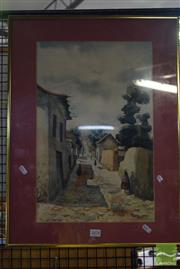 Sale 8530 - Lot 2078 - Artist Unknown, South American Village, Watercolour, 48x30.5cm
