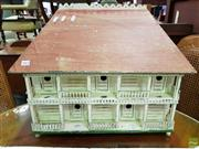 Sale 8570 - Lot 1063 - Painted Rustic Timber House Model (52 x 64 x 30.5cm)