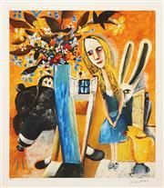 Sale 8732 - Lot 537 - Charles Blackman (1928 - 2018) - Alice 77 x 66cm