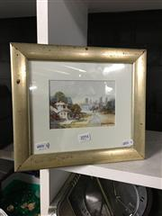 Sale 8702 - Lot 2094 - Greta Moran - Towards the City, watercolour, 25 x 29cm (frame size), signed lower right
