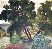 Sale 8756A - Lot 5004 - Adrian Feint (1894 - 1971) - The Gums at Mittagong, 1954 18.5 x 19.5cm