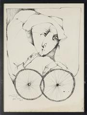 Sale 8828 - Lot 2032 - Alessandro Kokocinski (1948 - 2017) - Untitled (Portrait), 1970 63.5 x 47cm