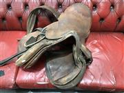 Sale 8805 - Lot 1094 - Vintage Leather Saddle