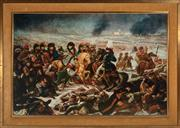 Sale 8873A - Lot 72 - After Jean Gors, The Battle of Eyau in a gilt frame, print