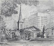Sale 8901A - Lot 5073 - Cedric Emanuel (1906 - 1995) - Queens Square, Sydney, 1970 44 x 52 cm