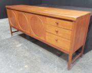 Sale 8943 - Lot 1032 - Nathan Circles Teak Sideboard (H: 78, W: 182, D: 45cm)