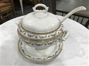 Sale 9051 - Lot 1089 - Belgian Soup Tureen, Plate, Ladle Boch, circa 1900