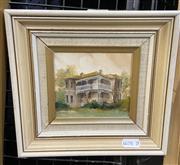Sale 9053 - Lot 2048 - Diana Lane -Hunters Hill, Ambrose Street, 1980, Oil on Board (Frame Size 20 x 20cm)