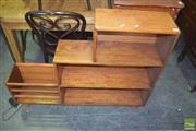 Sale 8390 - Lot 1216 - Oak Stepside Bookcase
