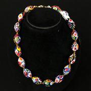 Sale 8402D - Lot 35 - Murano Glass Millefiori Necklace (Length - 42cm)