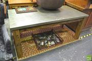 Sale 8406 - Lot 1020 - Detroit Dining Table with Zinc Top Finish