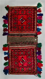Sale 8472C - Lot 75 - Persian Saddle Bag 125cm x 52cm