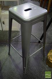Sale 8542 - Lot 1017 - Set of Three Metal Stools