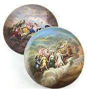 Sale 8545N - Lot 53 - Pair of Royal Vienna Hand Painted Chargers (D: 28cm)
