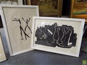 Sale 8561 - Lot 2038 - Michael Noble (1919 - 1993) (2 works) - Dancers 53 x 37.5cm, each