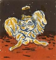 Sale 8702 - Lot 2007 - Artist Unknown - Cherub, 1994 14.5 x 14.5cm (frame: 50.5 x 50.5cm)